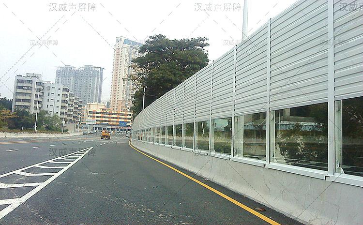 湖北宜昌高架桥梁吸声实体墙
