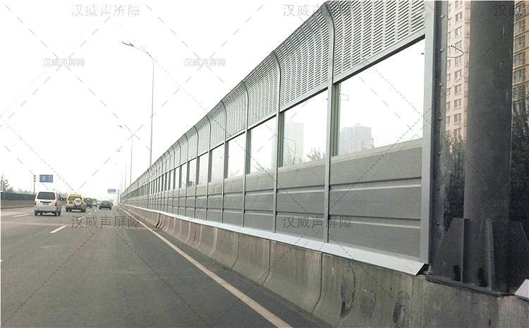湖北宜昌公路道路桥梁复合型彩钢瓦隔音板