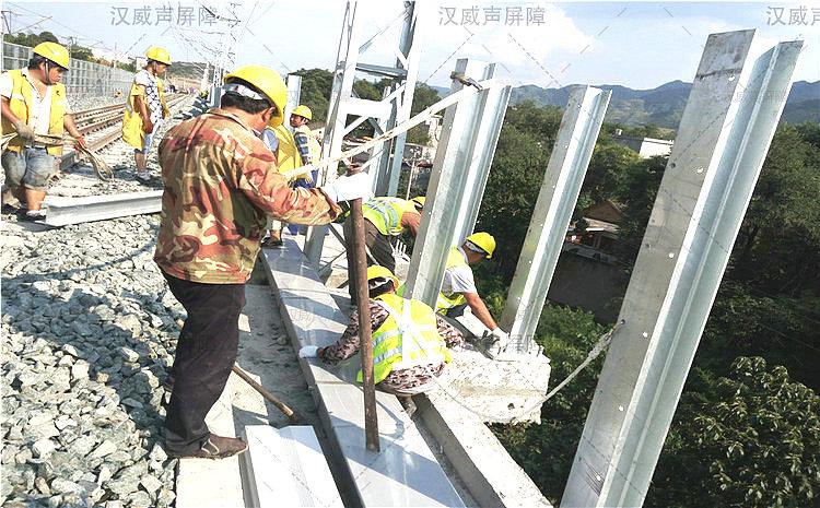 湖北宜昌铁路高分子通透隔音网