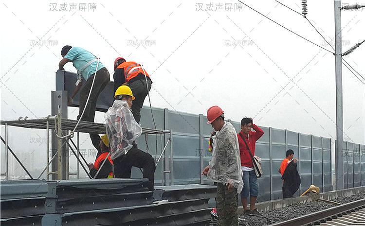 湖北宜昌铁路景观隔声屏障